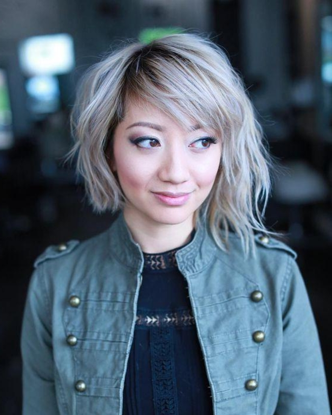 20 New Short Hairstyles For Asian Women   Hairstyle Guru Regarding Platinum Blonde Bob Hairstyles With Exposed Roots (View 19 of 25)
