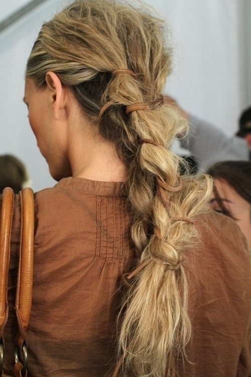 20 Ponytail Hairstyles: Discover Latest Ponytail Ideas Now Inside Pretty Messy Pony Hairstyles With Braided Section (View 7 of 25)