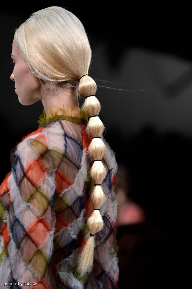 20 Ponytails You Should Try Right Now In Sleek Bubble Ponytail Hairstyles (View 13 of 25)