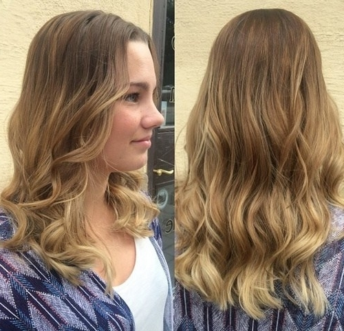 20 Pretty Spring Ombré Hair Ideas: Chic Hair Color Designes For 2017 For Classic Blonde Balayage Hairstyles (View 8 of 25)