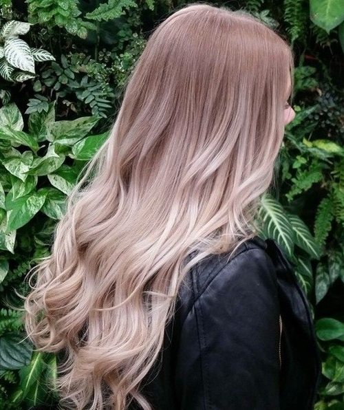 20 Pretty Spring Ombré Hair Ideas: Chic Hair Color Designes For 2017 Inside Butterscotch Blonde Hairstyles (View 20 of 25)
