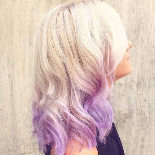 20 Purple Ombre Hair Color Ideas – Popular Haircuts Intended For Ombre Ed Blonde Lob Hairstyles (View 21 of 25)