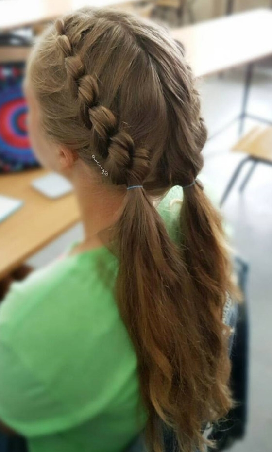 20 Quick And Easy Braids For Kids (Tutorial Included) In Pony Hairstyles With Accent Braids (View 10 of 25)