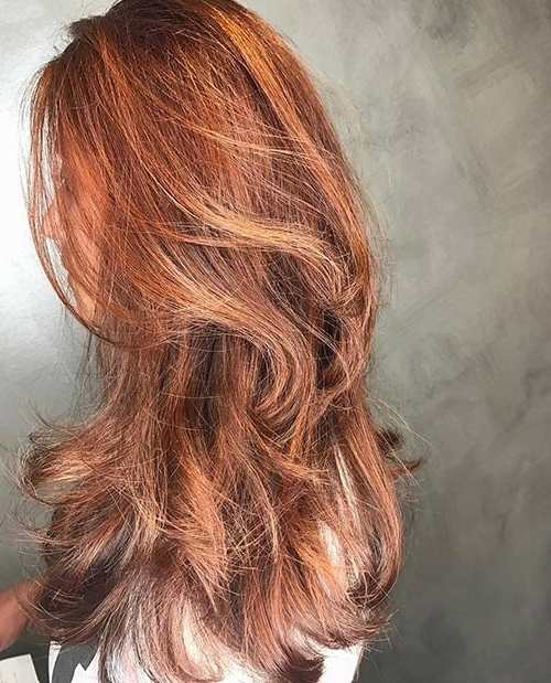 20 Rose Gold Hair Color Ideas Trending In 2018 Intended For Golden Bronze Blonde Hairstyles (View 23 of 25)