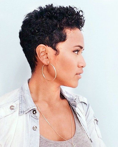 20 Sassy And Sexy Black Pixie Cuts In 2018 | Nails | Pinterest Inside Current Short Black Pixie Hairstyles For Curly Hair (View 7 of 25)