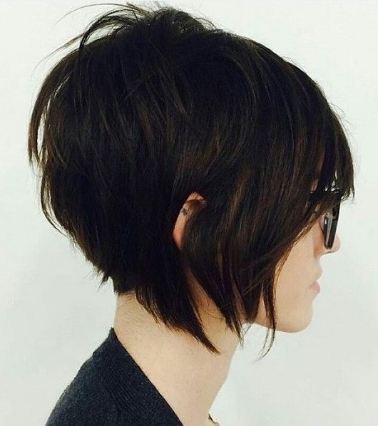 20 Sexy Stacked Haircuts For Short Hair: You Can Easily Copy | Hair Within Most Popular Stacked Pixie Bob Hairstyles With Long Bangs (View 6 of 25)