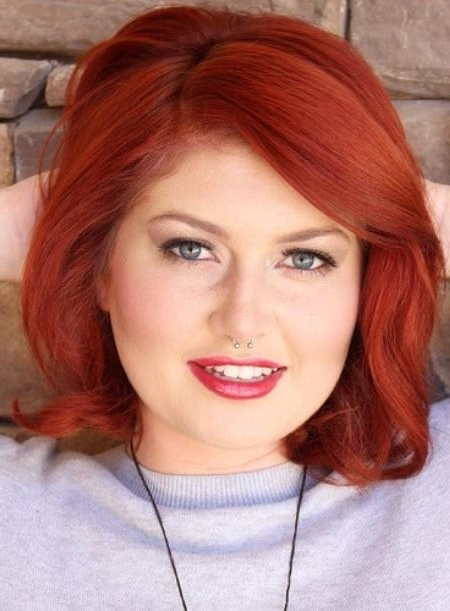 20 Short Hairstyles For Round Faces Inside Most Current Ravishing Red Pixie Hairstyles (View 11 of 25)