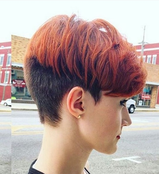 20 Shorter Hairstyles Perfect For Thick Manes – Popular Haircuts In Most Current Two Tone Pixie Hairstyles (View 11 of 25)