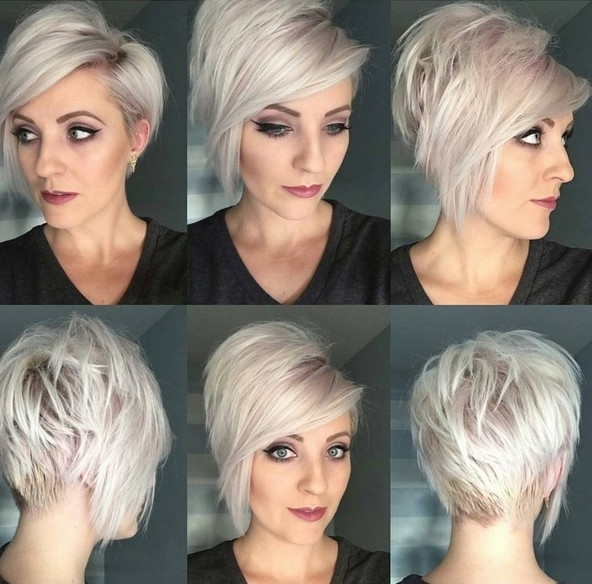 20 Shorter Hairstyles Perfect For Thick Manes – Popular Haircuts Regarding Platinum Asymmetrical Blonde Hairstyles (View 20 of 25)