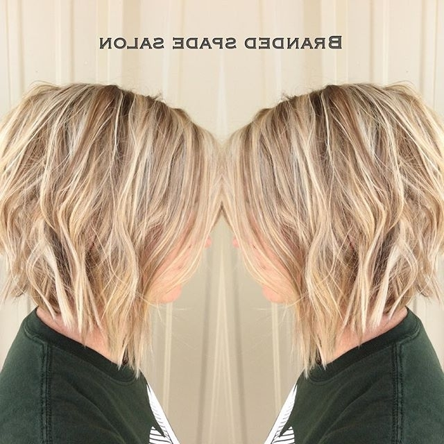 20 Spectacular Angled Bob Hairstyles – Pretty Designs For Angled Wavy Lob Blonde Hairstyles (View 7 of 25)