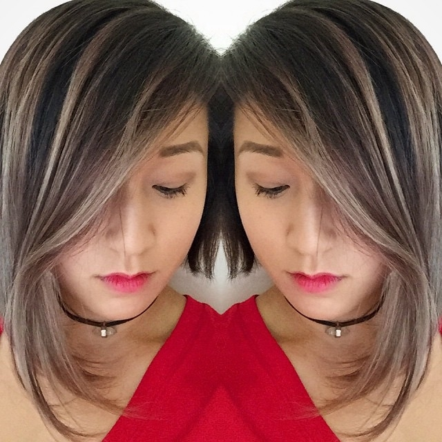 20 Spectacular Angled Bob Hairstyles – Pretty Designs For Bronde Bob With Highlighted Bangs (View 2 of 25)