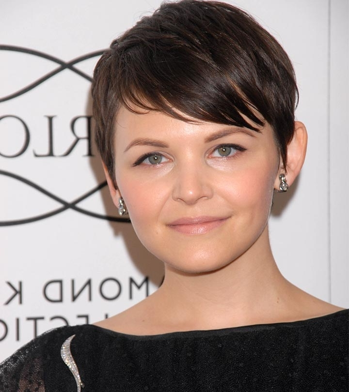 20 Stunning Short Hairstyles For Round Faces Regarding Most Popular Funky Blue Pixie Hairstyles With Layered Bangs (View 22 of 25)