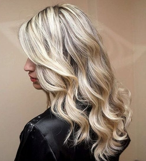 20 Stylish Designs To Have Silver And White Hair: Women Hair Color 2017 Pertaining To Pearl Blonde Bouncy Waves Hairstyles (View 8 of 25)
