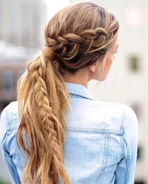 20 Super Chic Hairstyles For Fine Straight Hair | Hairstyles For Messy Pony Hairstyles With Lace Braid (View 18 of 25)