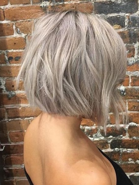 Featured Photo of Short Silver Blonde Bob Hairstyles