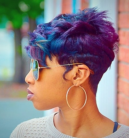 20 Trendy African American Pixie Cuts 2017 – Pixie Cuts For Black Women Within Newest Choppy Asymmetrical Black Pixie Hairstyles (View 6 of 25)