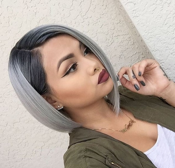 20 Trendy Gray Hairstyles – Gray Hair Trend & Balayage Hair Designs With Recent Reverse Gray Ombre Pixie Hairstyles For Short Hair (View 11 of 25)