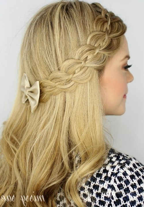 20 Trendy Half Braided Hairstyles | Hairstyles | Pinterest | Sweet Throughout Ponytail And Lacy Braid Hairstyles (View 6 of 25)
