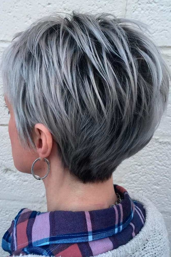 20 Trendy, Short Haircuts For Women Over 50 | Beauty Tips For Most Recent Reverse Gray Ombre Pixie Hairstyles For Short Hair (View 2 of 25)