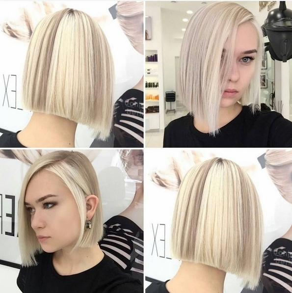 20 Trendy Ways To Style A Blonde Bob – Popular Haircuts In White Blunt Blonde Bob Hairstyles (View 5 of 25)