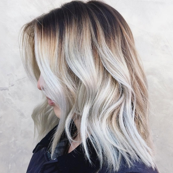 20 Visible Roots Hair Color Ideas That Will Convince You To Skip Inside Grayscale Ombre Blonde Hairstyles (View 8 of 25)