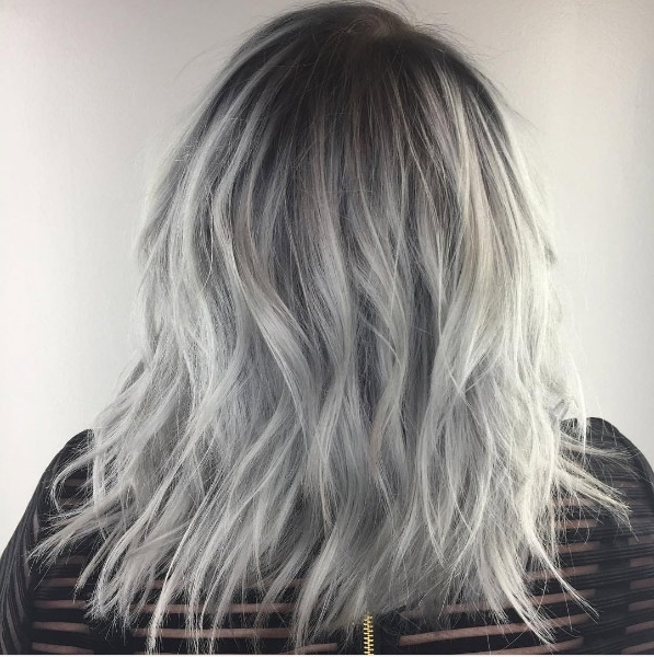 20 Visible Roots Hair Color Ideas That Will Convince You To Skip Pertaining To Grayscale Ombre Blonde Hairstyles (View 15 of 25)