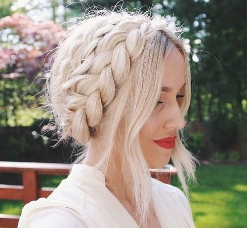 20 Ways To Style Sliver And Platinum Hair For Spring 2017 For Platinum Braided Updo Blonde Hairstyles (View 15 of 25)