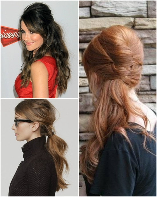 2013 Easy Holiday Hairstyles Trends For This Winter – Vpfashion Pertaining To Curled Up Messy Ponytail Hairstyles (View 19 of 25)