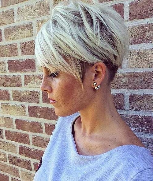 2017's Best Short Haircuts For Older Women | Short Hairstyles 2017 Regarding Most Popular Sassy Undercut Pixie Hairstyles With Bangs (View 18 of 25)