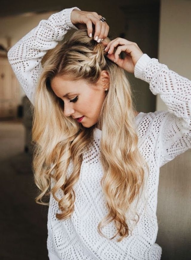 2018 Wedding Hair Trends | The Ultimate Wedding Hair Styles Of 2018 Intended For Braided Along The Way Hairstyles (View 7 of 25)