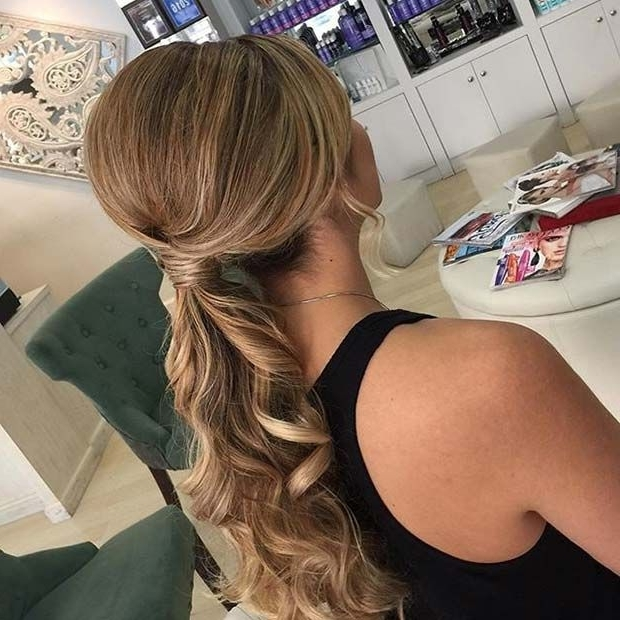 21 Beautiful Hair Style Ideas For Prom Night | Stayglam Hairstyles With Regard To Lively And Lovely Low Ponytail Hairstyles (View 9 of 25)