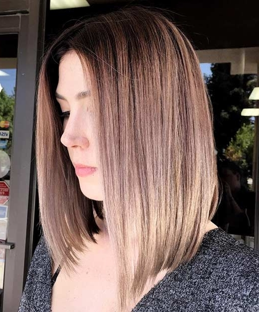 21 Cute Lob Haircuts For This Summer | Page 2 Of 2 | Stayglam Pertaining To Silver Blonde Straight Hairstyles (View 18 of 25)