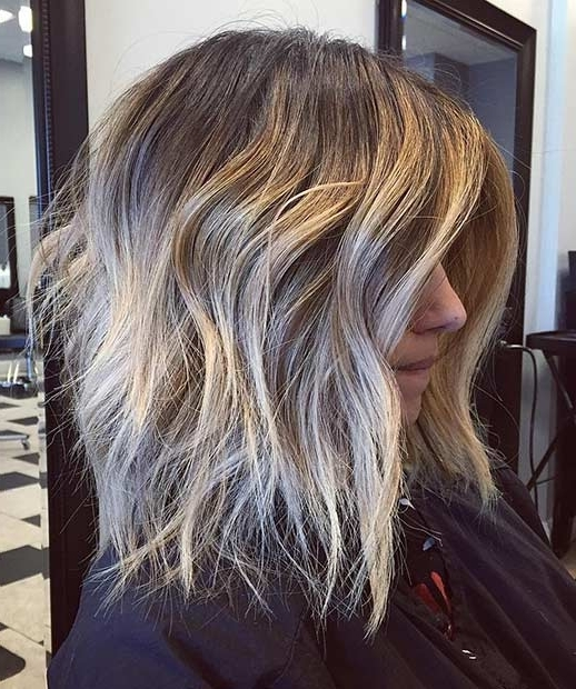 21 Cute Lob Haircuts For This Summer   Stayglam Regarding Messy Blonde Lob Hairstyles (View 12 of 25)