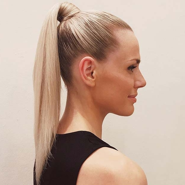 21 Elegant Ponytail Hairstyles For Special Occassions | Stayglam Within High Sleek Ponytail Hairstyles (View 7 of 25)