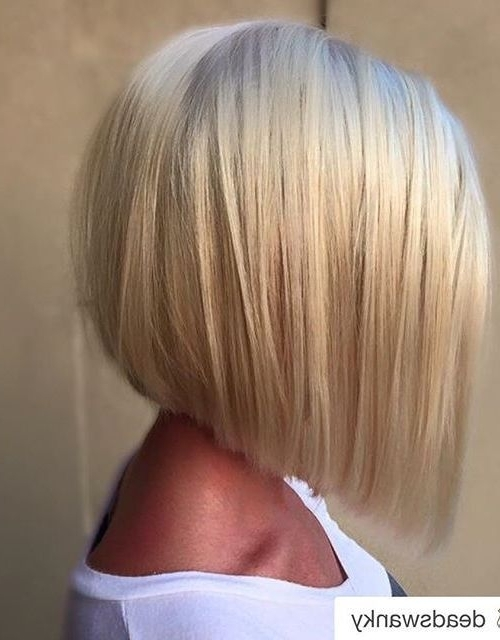 21 Eye Catching A Line Bob Hairstyles | Gorgeous Hair | Pinterest Throughout Stacked White Blonde Bob Hairstyles (View 2 of 25)