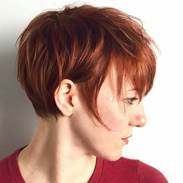 21 Gorgeous Short Pixie Cuts With Bangs | Styles Weekly Regarding Most Up To Date Messy Tapered Pixie Hairstyles (View 15 of 25)