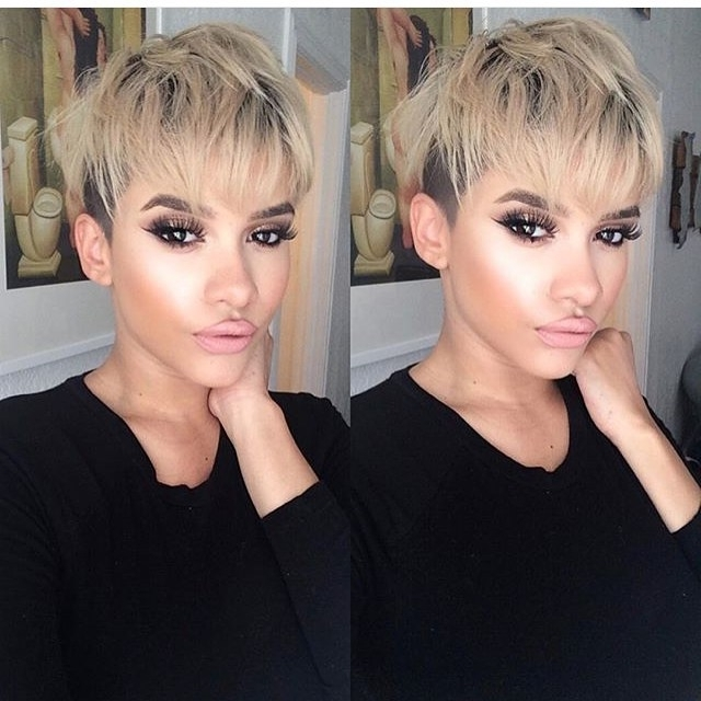 21 Lovely Pixie Cuts With Bangs – Popular Haircuts In Recent Funky Blue Pixie Hairstyles With Layered Bangs (View 7 of 25)