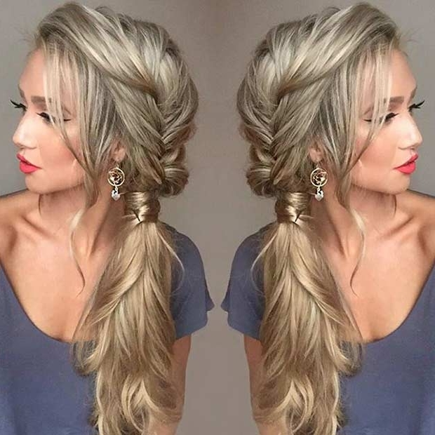 21 Pretty Side Swept Hairstyles For Prom   Page 2 Of 2   Stayglam In Side Swept Pony Hairstyles (View 2 of 25)