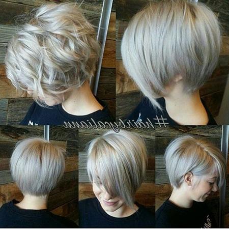 21 Short Silver Blonde Hairstyles – Blonde Hairstyles 2017 Throughout Short Silver Blonde Bob Hairstyles (View 4 of 25)
