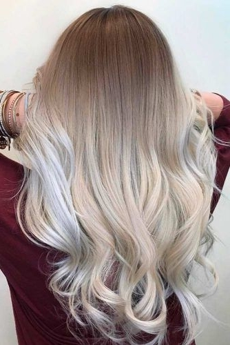 21 Stunning Blonde Ombre Hairstyles | Hair Inspiration | Pinterest Inside Icy Ombre Waves Blonde Hairstyles (View 9 of 25)