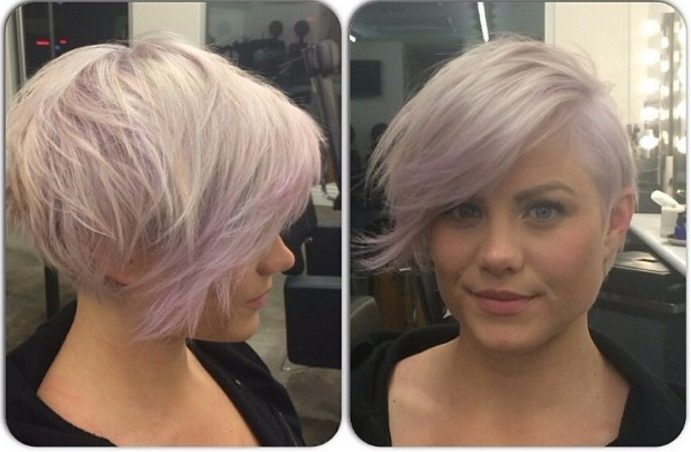 21 Stunning Long Pixie Cuts – Short Haircut Ideas For 2018 Throughout Platinum And Purple Pixie Blonde Hairstyles (View 15 of 25)