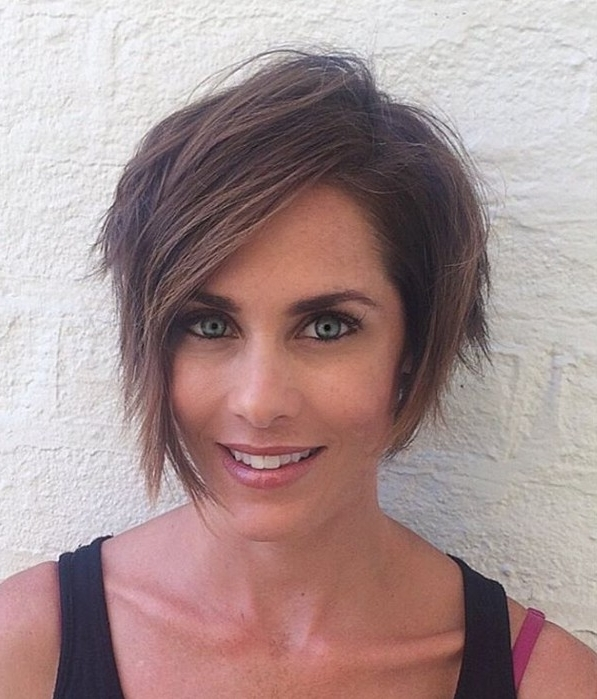 Showing Photos of Choppy Side-Parted Pixie Bob Hairstyles ...