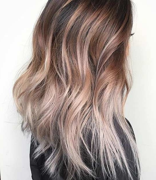 21 Stunning Summer Hair Color Ideas | Stayglam With Beige Balayage For Light Brown Hair (View 5 of 25)