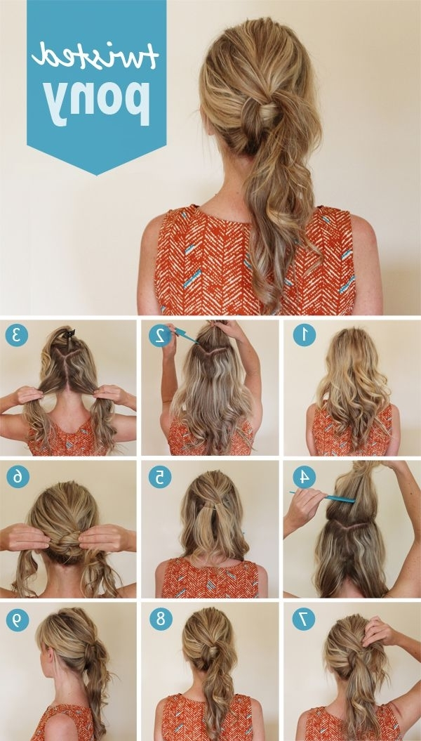 21 Super Easy But Amazing Ponytail Hairstyles That Will Save Your Regarding Twisted Pony Hairstyles (View 14 of 25)