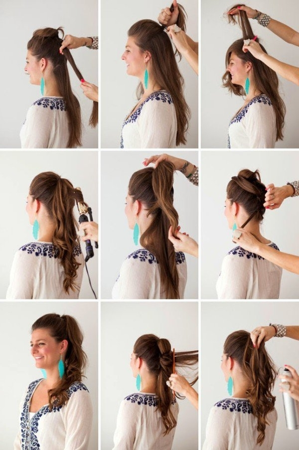 21 Super Easy But Amazing Ponytail Hairstyles That Will Save Your With Regard To Cascading Ponytail Hairstyles (View 1 of 25)