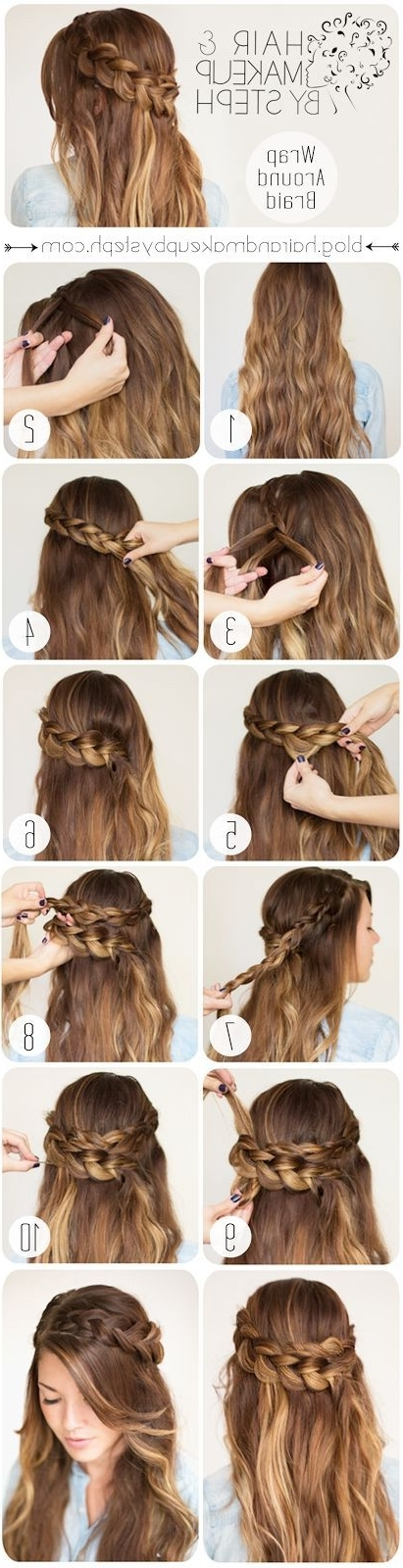 21 Tutorials For Styling Wrap Around Braids – Pretty Designs Intended For Pony Hairstyles With Wrap Around Braid For Short Hair (View 20 of 25)