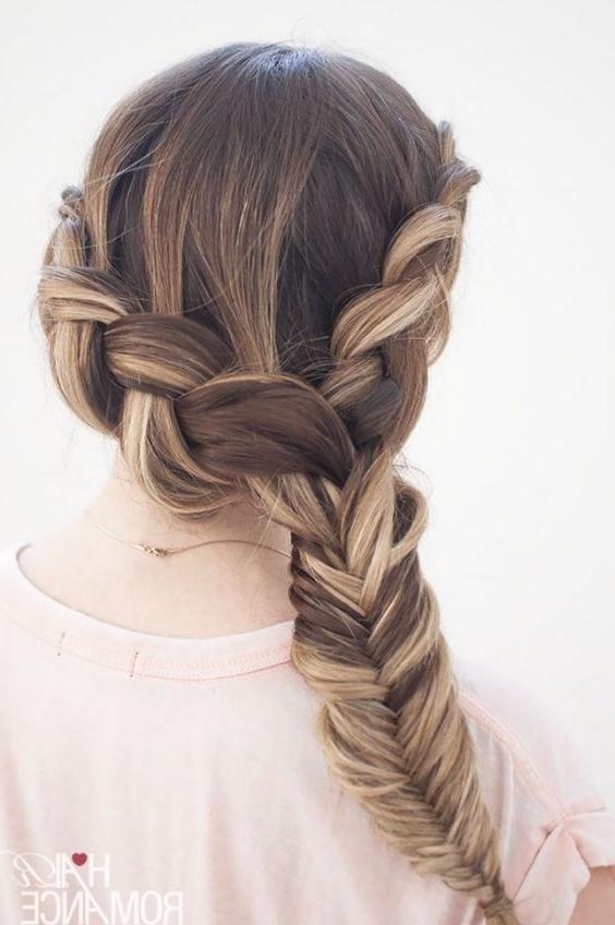 21 Tutorials For Styling Wrap Around Braids – Pretty Designs Regarding Double Braided Wrap Around Ponytail Hairstyles (View 19 of 25)