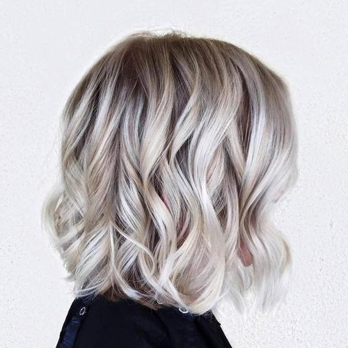 22 Amazing Bob Hairstyles For Women (Medium & Short Hair) | Styles With Regard To Glamorous Silver Blonde Waves Hairstyles (View 7 of 25)