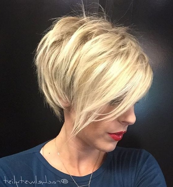 22 Amazing Long Pixie Haircuts For Women – Daily Short Hairstyles 2018 Throughout 2018 Disconnected Blonde Balayage Pixie Hairstyles (View 17 of 25)