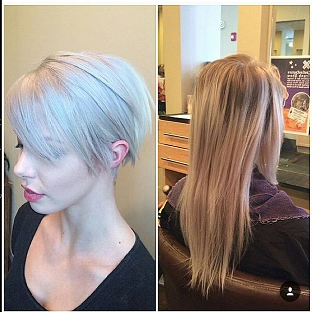22 Beautiful Long Pixie Hairstyles For Women – Pretty Designs Inside Most Up To Date Silver And Brown Pixie Hairstyles (View 23 of 25)